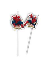 Ultimate Spider-Man Web Warriors - Medallion Flexi Drinking Straws - 85159
