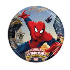 Ultimate Spider-Man Web Warriors - Paper Plates Medium 20cm - 85152