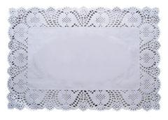 Dolies - White Rectagular 17x34 Cm