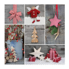 Three-ply Napkins 33 X 33 Cm / Everyday Designs - Wooden Ornaments Three-Ply Napkins 33x33cm - 89457