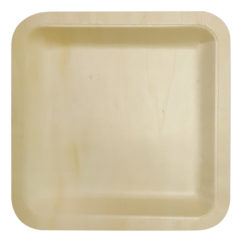 Decorata™ Wooden Products - Wooden Square Plates 21x21cm - 90799