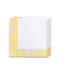 Red, Green, Yellow, Black, Blue Squares - Two-ply Paper Napkins 33x33cm Yellow Squares