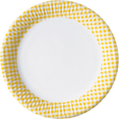 Red, Green, Yellow, Black, Blue Squares - Paper Plates Small 16 Cm Yellow Squares