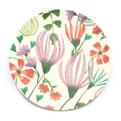 Decorata™ Bamboo Fiber Floral Set - Bamboo Fiber Plate 24cm - 90759