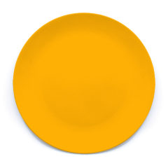 Decorata™ Bamboo Fiber Solid Colour Sets - Bamboo Fiber Plate 24cm (Yellow) - 90772