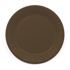 Decorata™ Compostable Solid Colour Collection - Industrial Compostable Paper Plates Large 23cm (Brown) - 90901