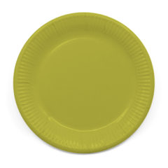 Decorata™ Compostable Solid Colour Collection - Industrial Compostable Paper Plates Large 23cm (Green) - 90898