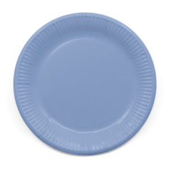 Decorata™ Compostable Solid Colour Collection - Industrial Compostable Paper Plates Large 23cm (Light Blue) - 90892