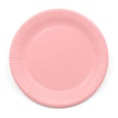 Decorata™ Compostable Solid Colour Collection - Industrial Compostable Paper Plates Large 23cm (Pink) - 90889
