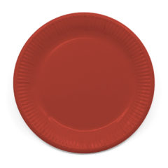 Decorata™ Compostable Solid Colour Collection - Industrial Compostable Paper Plates Large 23cm (Red) - 90886