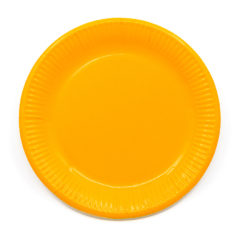 Decorata™ Compostable Solid Colour Collection - Industrial Compostable Paper Plates Large 23cm (Yellow) - 90883