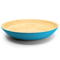 Decorata™ Spun Bamboo Products - Bamboo Bowl 30cm (Turquoise) - 90931