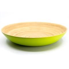Decorata™ Spun Bamboo Products - Bamboo Bowl 30cm (Green) - 90928