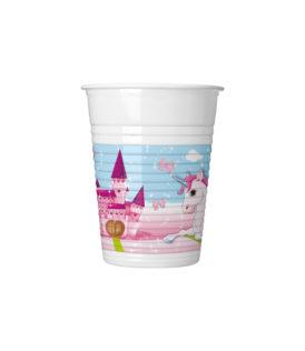 Unicorn - Plastic Cups 200 ml - 85672