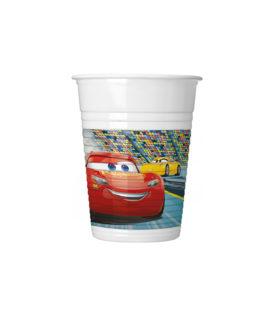 Cars 3 - Plastic Cups 200 ml. - 93557