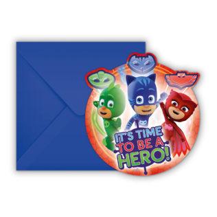 Pj Masks - Die-cut Invitations & Envelopes - 88635