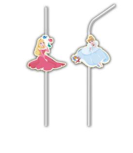 True Princess - Medallion Flexi Drinking Straws - 88968