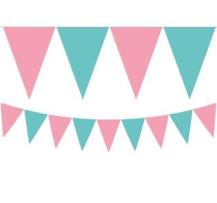 Flamingo - Triangle Flag Banner (9 Flags) - 89508