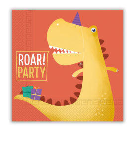 Dino Roar - Two-Ply Paper Napkins 33x33 cm - 90248