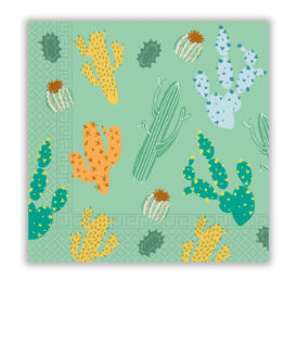 Cacti - Two-Ply Paper Napkins 33x33 cm - 90554