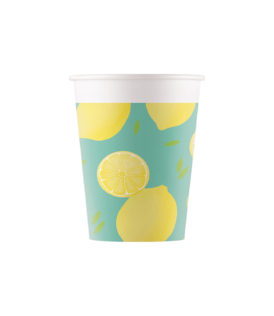 Lemons - Paper Cups 200 ml - 90571