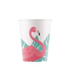 Flamingo - Paper Cups 200 ml - 90659