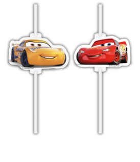 Cars 3 - Medallion Paper Drinking Straws - 90730