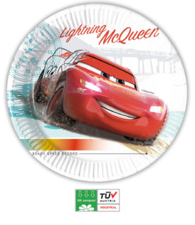 Cars High Speed Compostable - Compostable Paper Plates 23 cm FSC - 90816