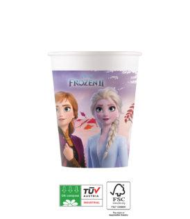 Frozen 2 Destiny Awaits Compostable - Paper Cups 200 ml Industrial Compostable FSC - 91147