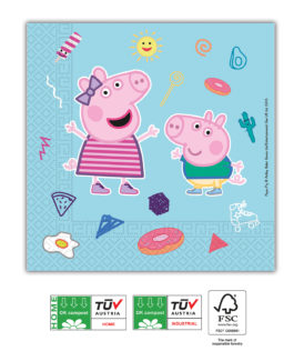 Peppa Pig Star Shine - Home & Industrial CompostableThree-Ply Napkins 33x33 cm FSC - 91878