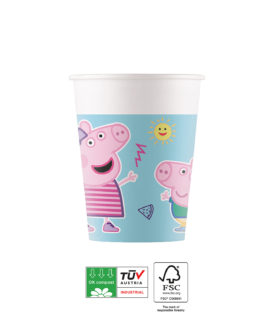 Peppa Pig Star Shine Compostable - Industrial Compostable Paper Cups 200 ml FSC - 91879