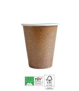 Kraft Tableware - Kraft Paper Cups Industrial Compostable 200 ml. - 92118