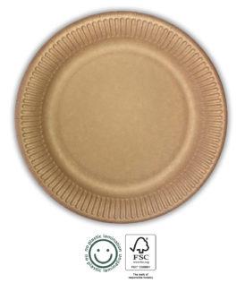 Kraft Tableware - Kraft Paper Plates 20 cm - 92463