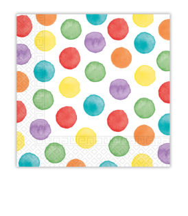 Multiwater Color Dots - Three-Ply Paper Napkins 33x33 cm. - 92934
