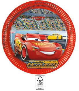 Cars 3 - Paper Plates 23 cm. FSC. - 93437