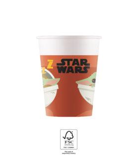 Star Wars The Mandalorian - Paper Cups FSC 200 ml. - 93481