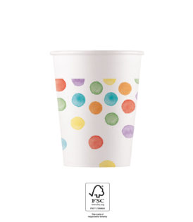 Multiwater Color Dots - Paper Cups 200 ml FSC. - 93503