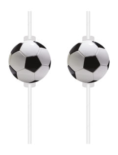Football Party - Medallion Paper Drinking Straws - 90656