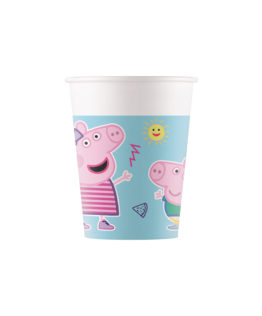 Peppa Pig Star Shine - Industrial Compostable Paper Cups 200 ml FSC - 91879