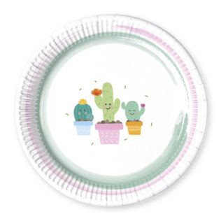 Cactus - Paper Plates Large 23cm - 89291