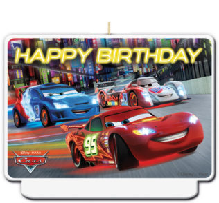 """Cars The Legend of the Track - """"happy Birthday"""" Décor Candle - 82893"""