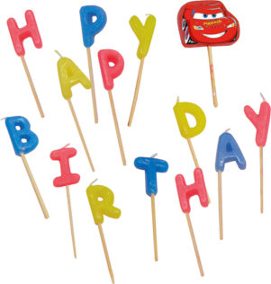 "Cars The Legend of the Track - ""happy Birthday"" Toothpick Candles - 9825"