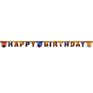 """Cars The Legend of the Track - """"Happy Birthday"""" Die-cut Banner - 89473"""