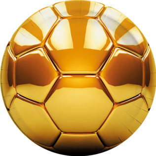 Football gold - Paper Plates Large 23cm - 89595  sc 1 st  Procos Party & Football gold - Paper Plates Large 23cm - 89595 - Procos
