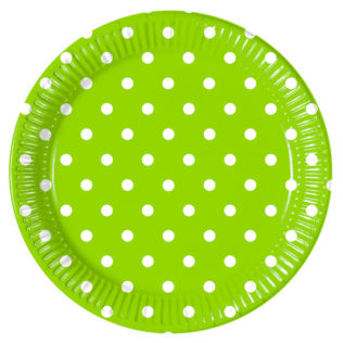 Green Dots - Paper Plates Large 23cm  sc 1 st  Procos Party & Green Dots - Paper Plates Large 23cm - Procos