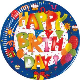 Kokliko  happy Birthday  - Paper Plates Large 23cm  sc 1 st  Procos Party & Kokliko