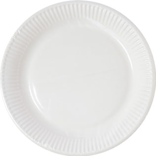Decorata™ Compostable White Products - Home Compostable White Paper Plates 23 cm FSC - 90640
