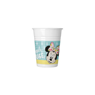 Minnie Tropical - Plastic Cups 200ml - 89231