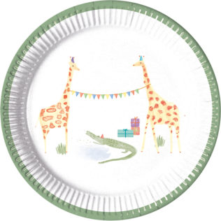 Paper Plates Medium 20cm  sc 1 st  Procos Party & Safari - Paper Plates Medium 20cm - 89783 - Procos