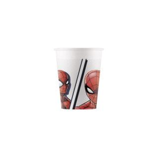 Decorata™ Compostable Spider-man Super Hero  - Industrial Compostable Paper Cups 200ml - 90949